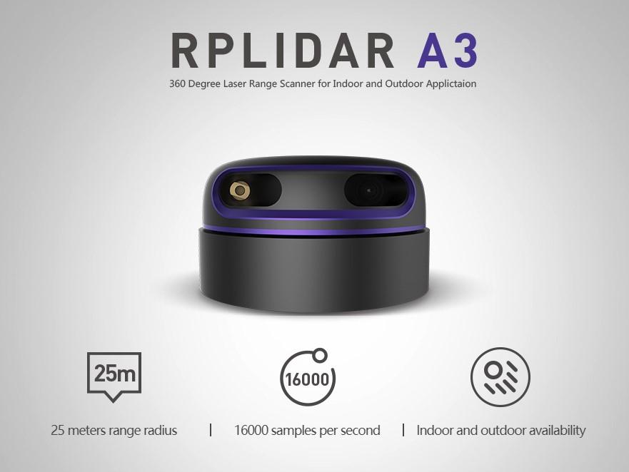 RPLiDAR A3M1 360 Degree Laser Scanner Kit - 25M Range