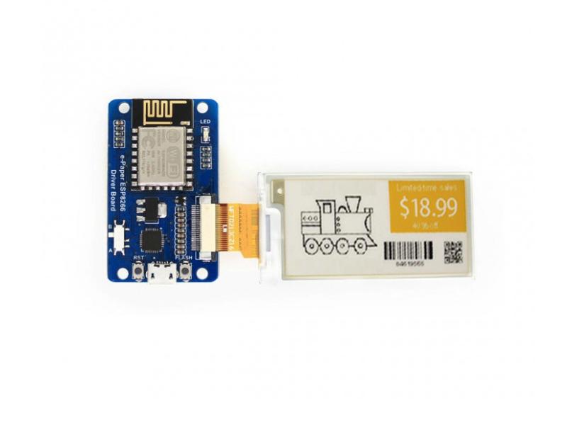 Universal e-Paper / e ink Raw Panel Driver Board, ESP8266 WiFi Wireless