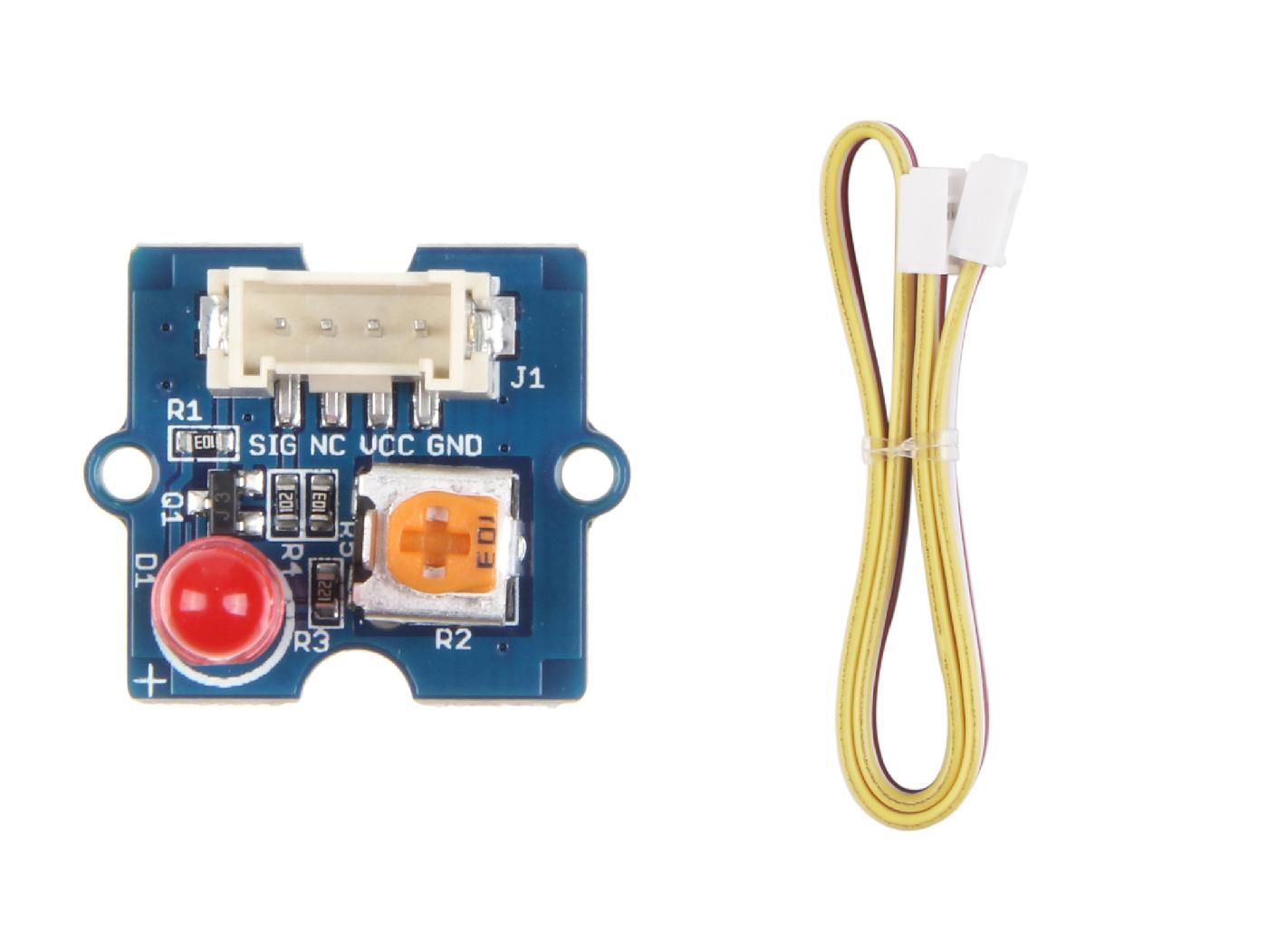 Grove Red Led Seeed Studio Box Enclosure For Intel Edison Development Board Electronics Circuit
