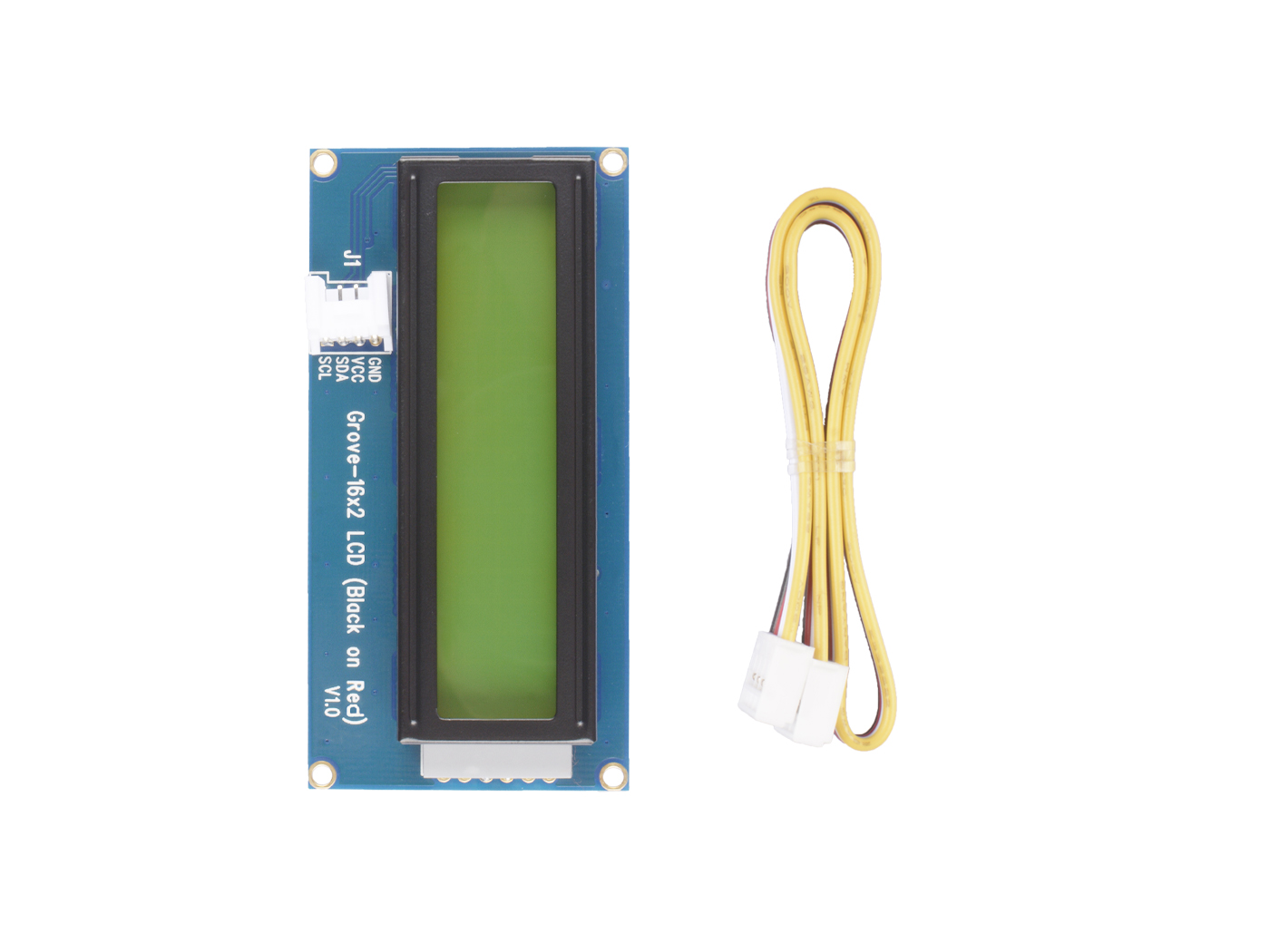 Grove - 16 x 2 LCD (Black on Red)