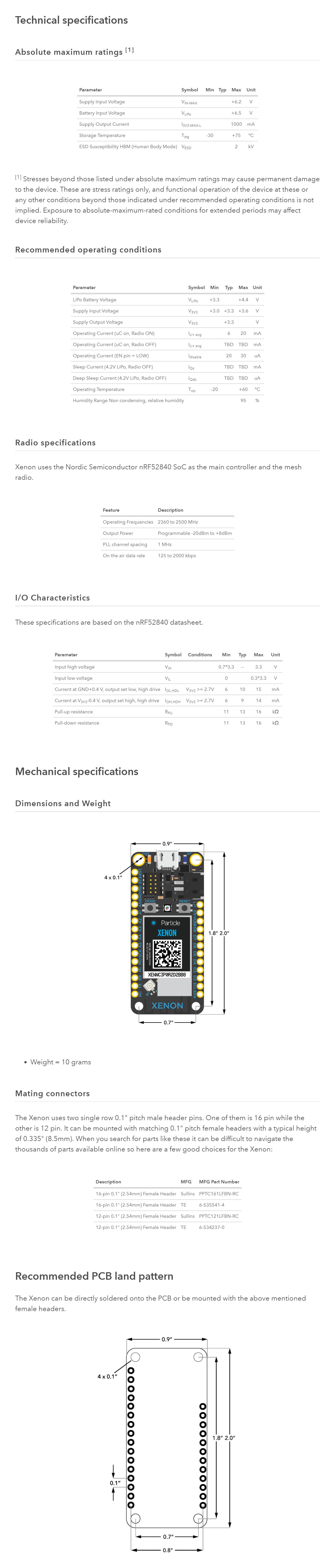 Particle Xenon IoT Development Board (Mesh+Bluetooth