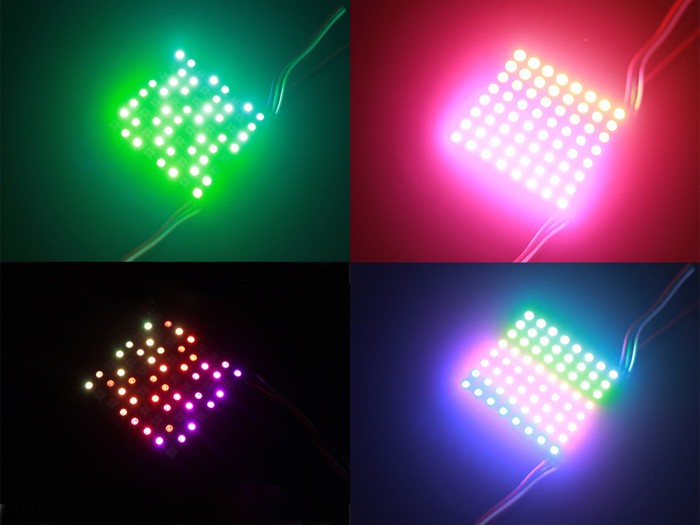 8*8 RGB LED Matrix w/ WS2812B - DC 5V