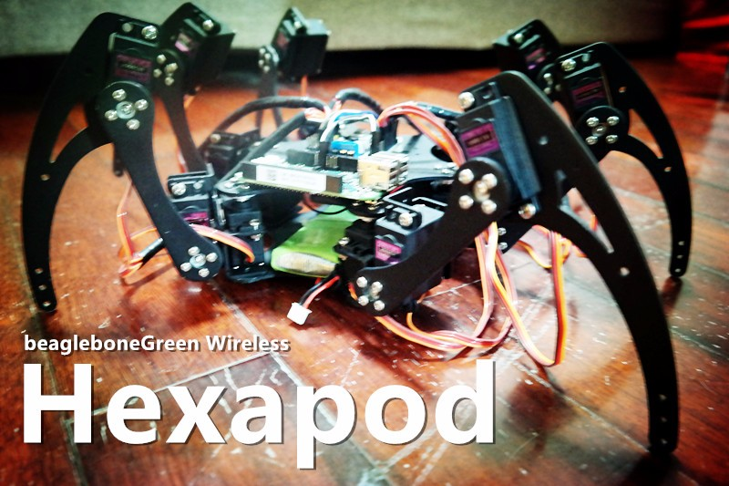 Hexapod Spider Robot based on Beaglebone Green Wireless