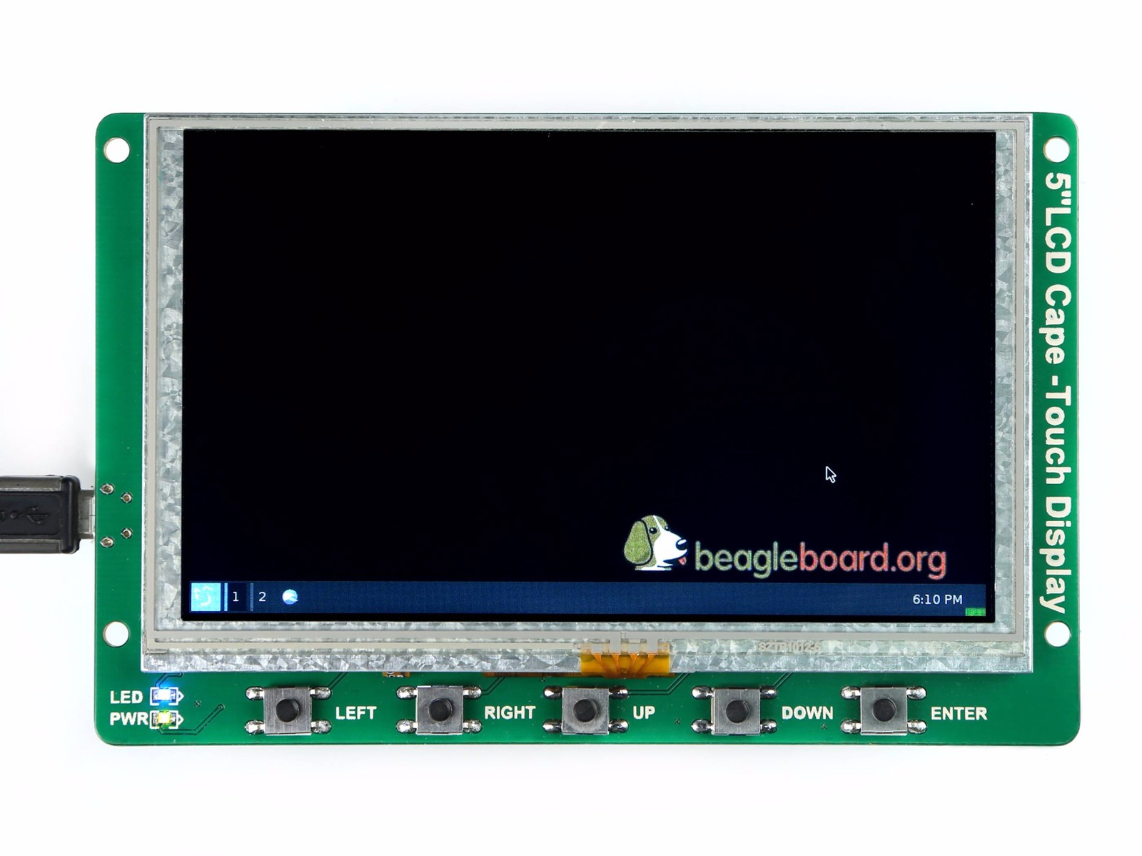 5 Inch BeagleBone Green LCD Cape with Resistive Touch