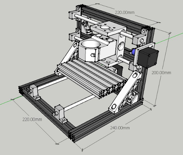 The Interesting DIY CNC 3 Axis Engraver Machine PCB Milling