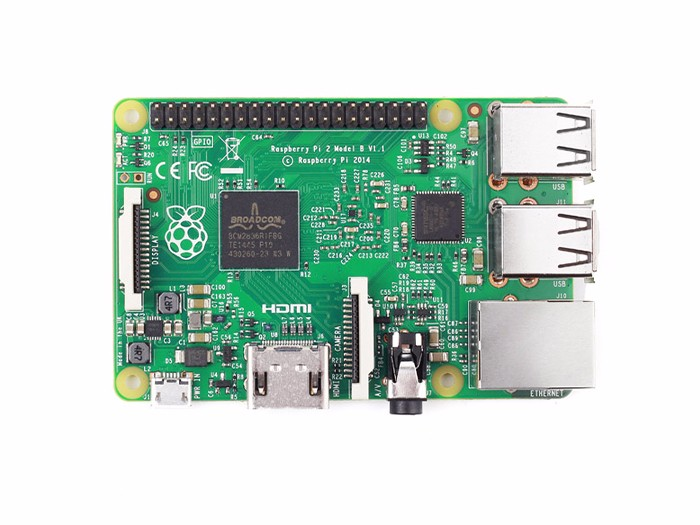 Raspberry Pi 2 Model B w& ARMv7 Quad Core 1GB RAM