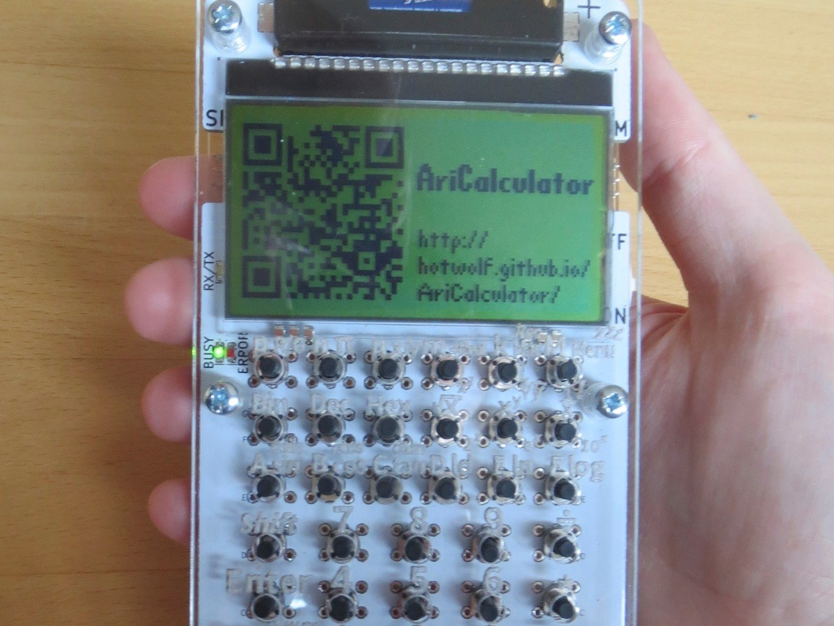AriCalculator - A homemade handheld calculator