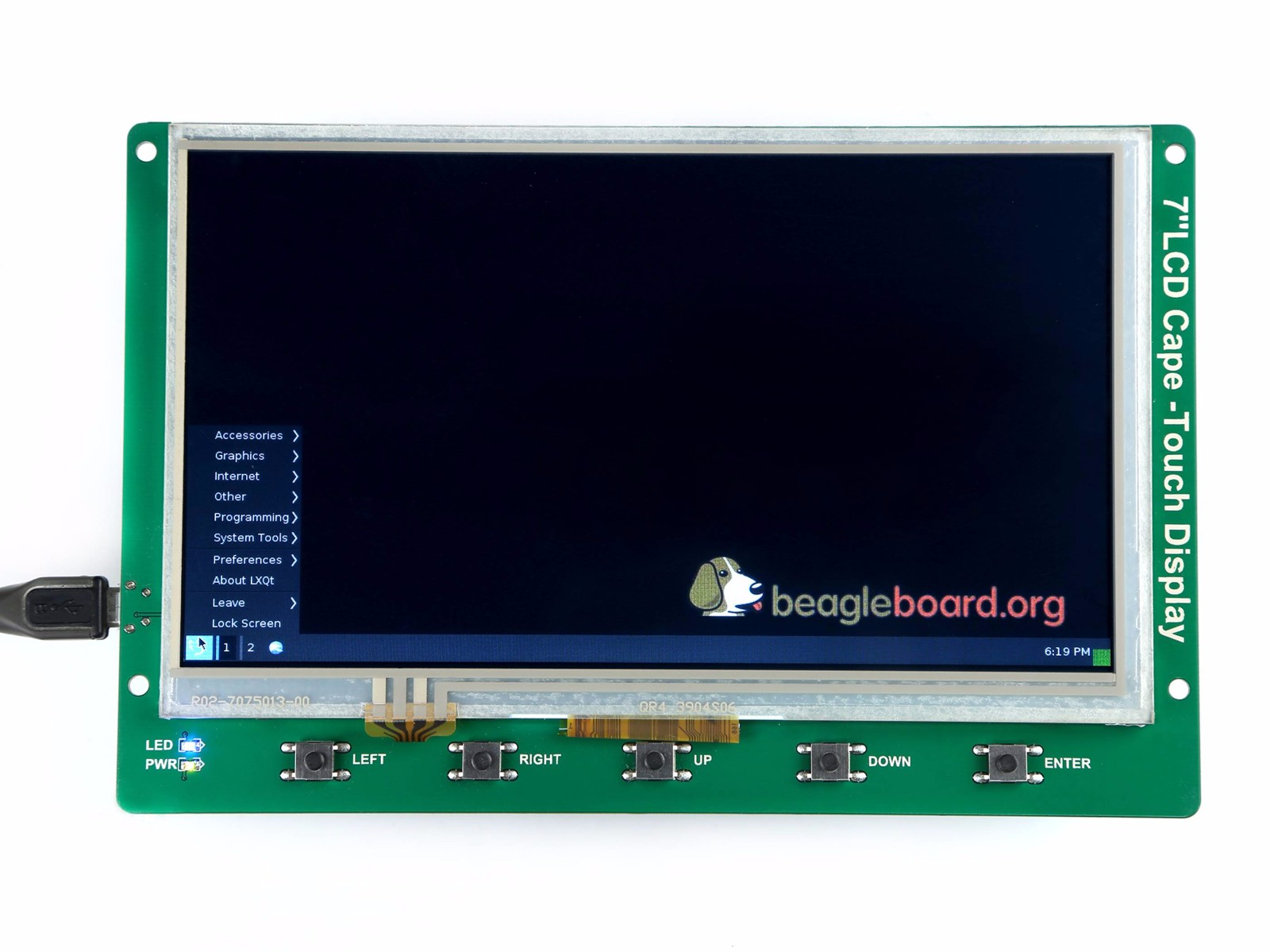 7 Inch BeagleBone Green LCD Cape with Resistive Touch