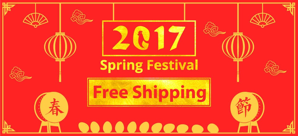 free shipping in spring festival