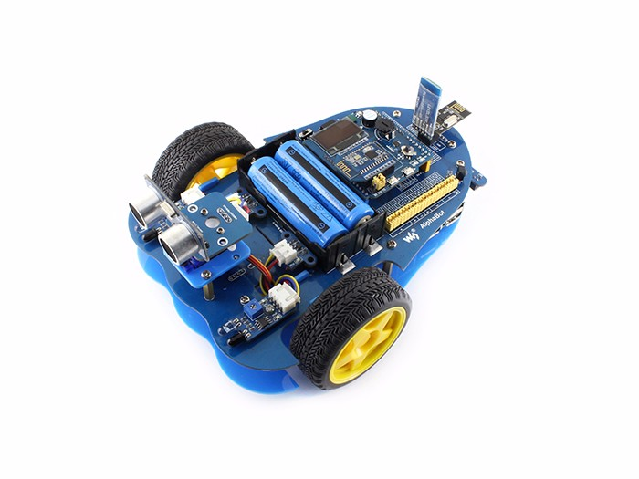 Alphabot bluetooth robot building kit for arduino stem