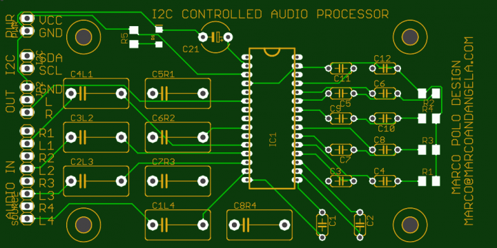 i2c controlled sound processor for amplifier -TDA7439