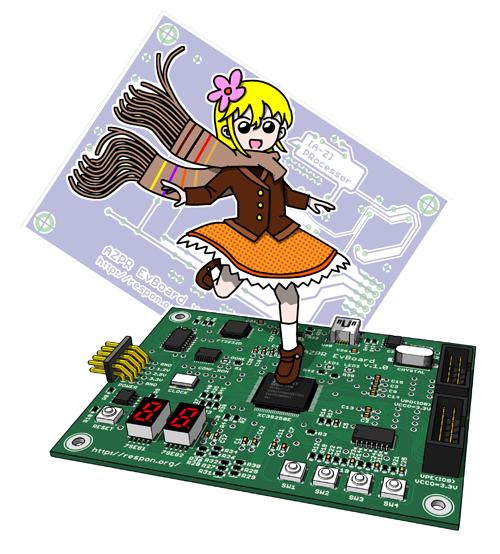 AZPR EvBoard (PCB girl)