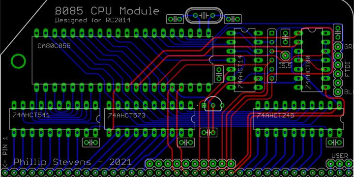 8085 CPU Module for RC2014 (OBSOLETE)