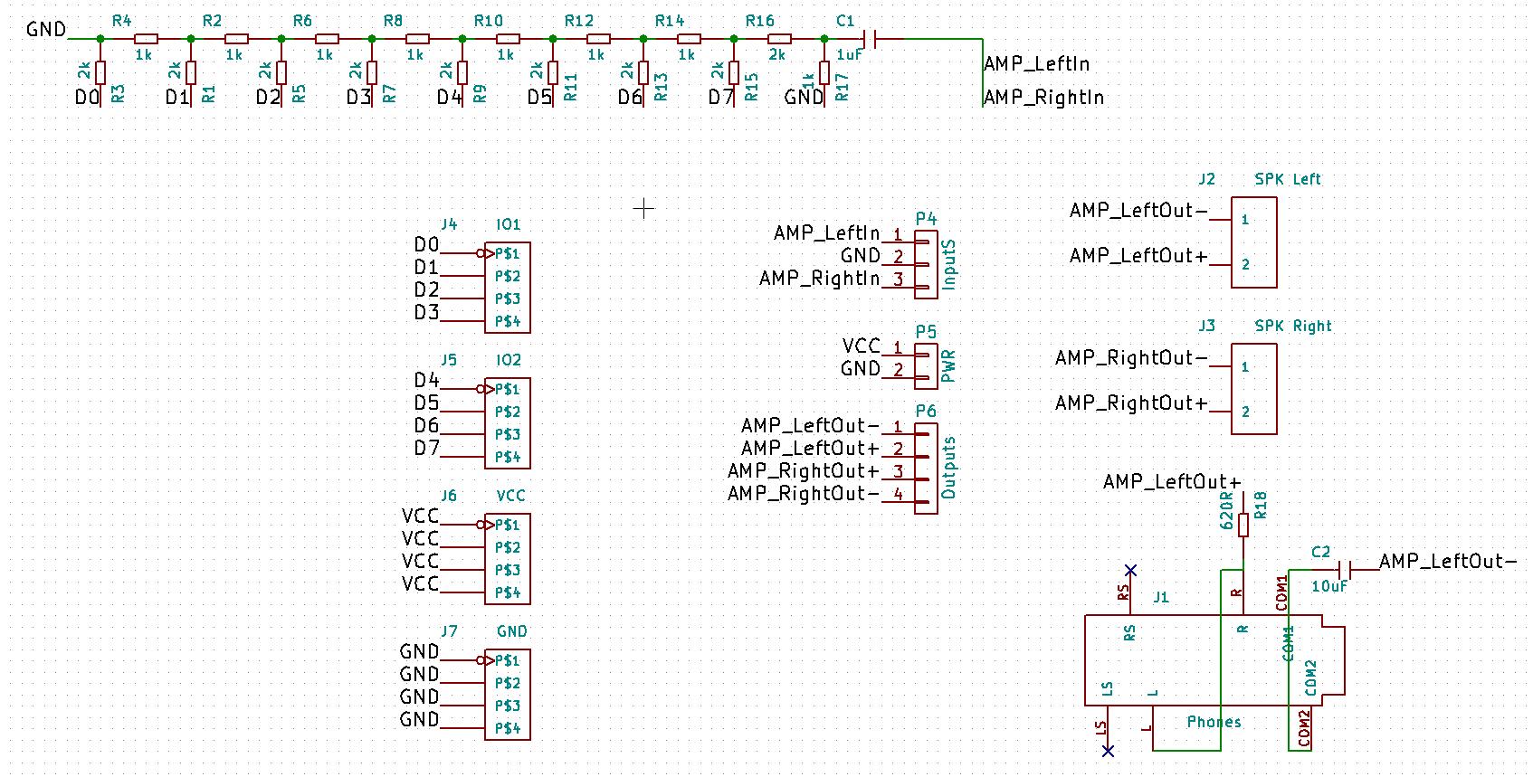 8-bit R2R DAC for Arduino Nano Breakout Board w/ 3W amp and